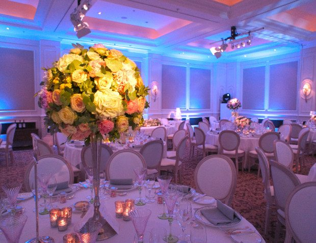 Wedding Venue With Table Setting And Floristry