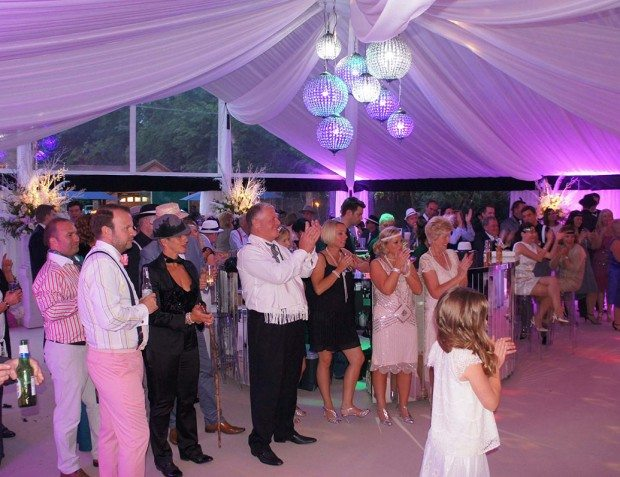 Guests Enjoying Gatsby Themed Party