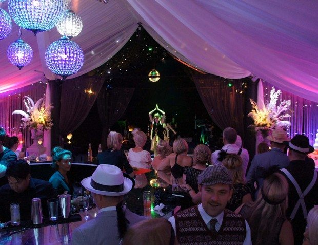Gatsby Inspired Party With Chandelier and Performers