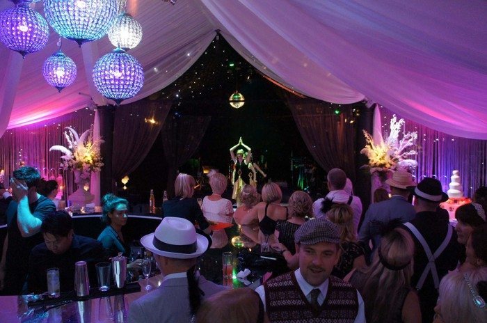 guests at the Gatsby inspired party