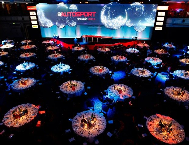 Autosport Awards Venue With Table Setting
