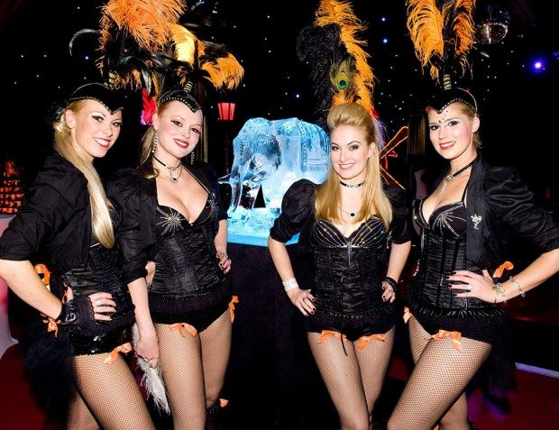 Show Girls In Moulin Rouge Theme