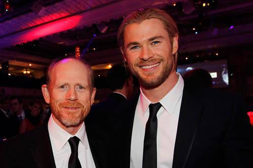 Ron Howard & Chris Hemsworth at the Autosport awards
