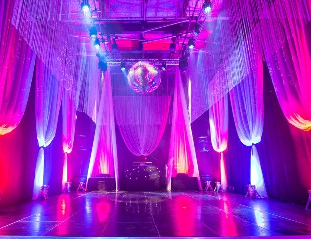 Interior Styling With Draping And Lighting