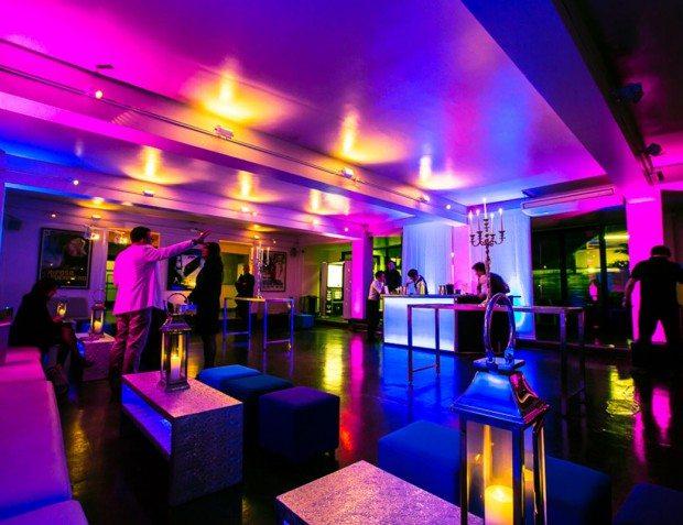 Colourful Lighting Inside Venue