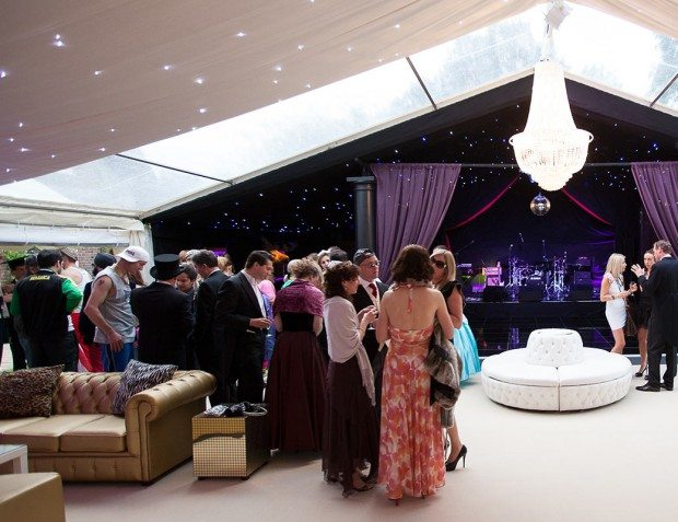 Party Guests In Clearspan Marquee