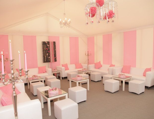 Pink And White Stripped Marquee
