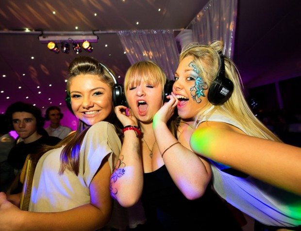 Party Guests At Silent Disco