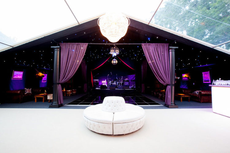 Chavs and Wags marquee interior
