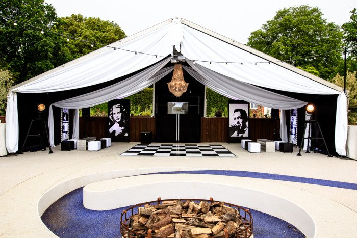 Vintage Hollywood 21st Marquee Party Ideas