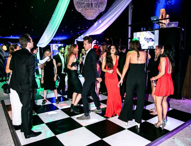Guests Dancing At Private Party