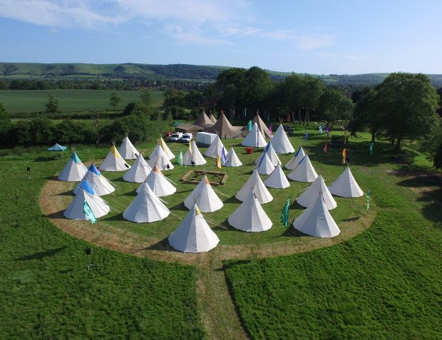 Festival themed 50th With Tipis