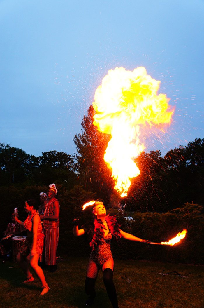 African themed party in Surrey with fire performers