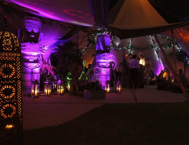 Tipi Styling At African Themed 50th