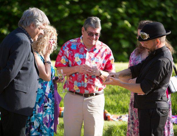 Magician At Summer Garden Party