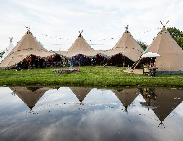 Giant Tipis For Festival Themed Party