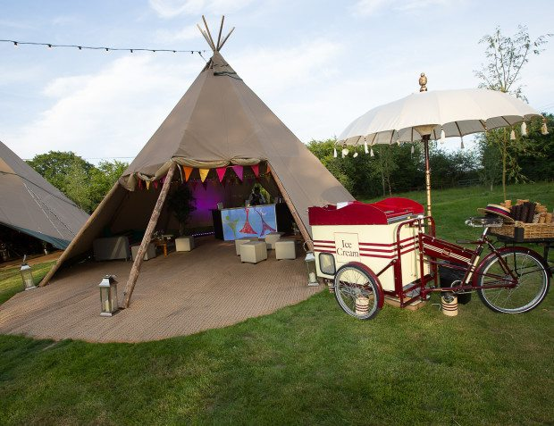 Ice Cream Tricycle and Tipi