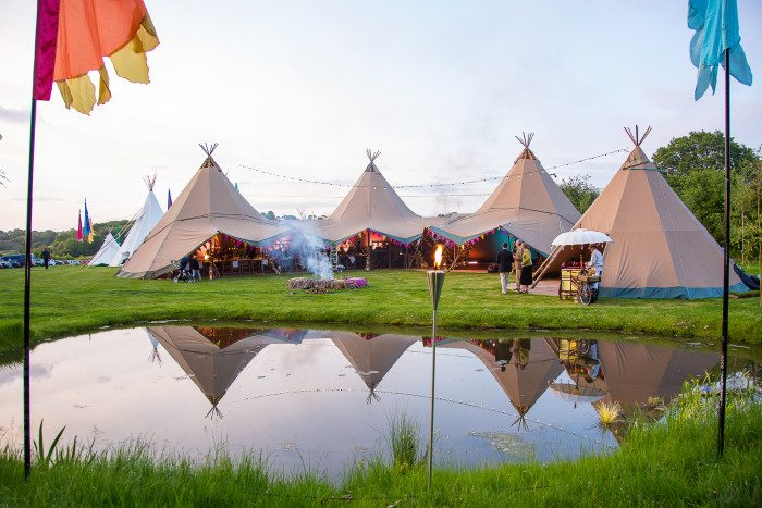 Giant Tipis In The Daylight