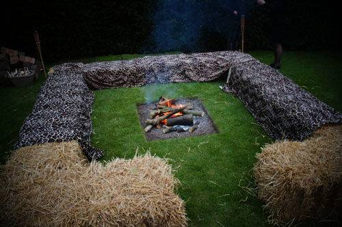african 50th party fire pit