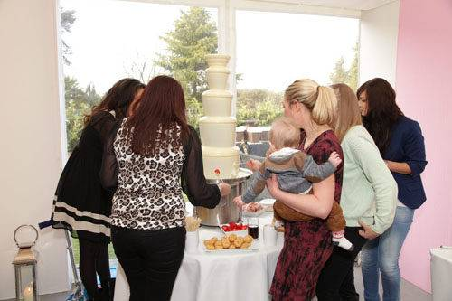 baby shower chocolate fountain