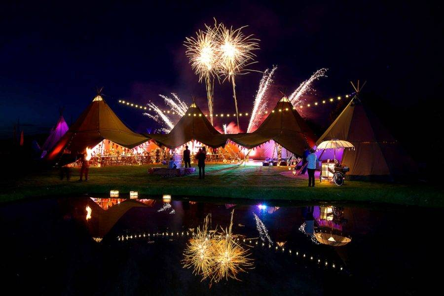 tipi fireworks 50th party