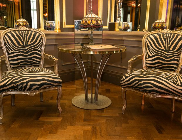 Zebra Armchairs At Surprise 40th Birthday Party