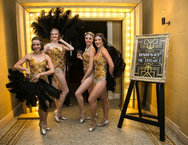 Golden Show Girls At Surprise 40th Birthday Party