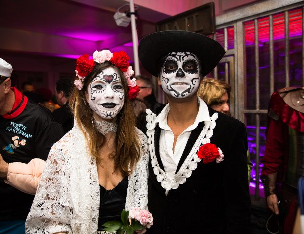 Day Of The Dead Make Up At Heroes And Villains Themed Party