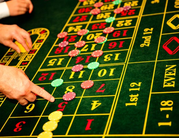 Casino Table At Private Party