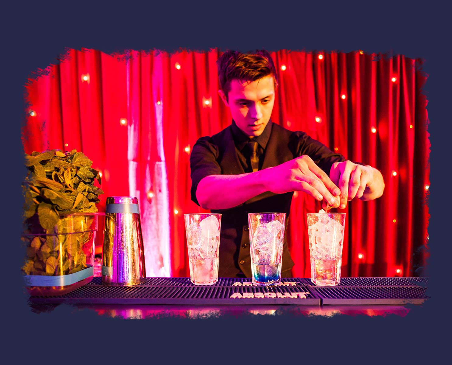 Barman At A Private Party