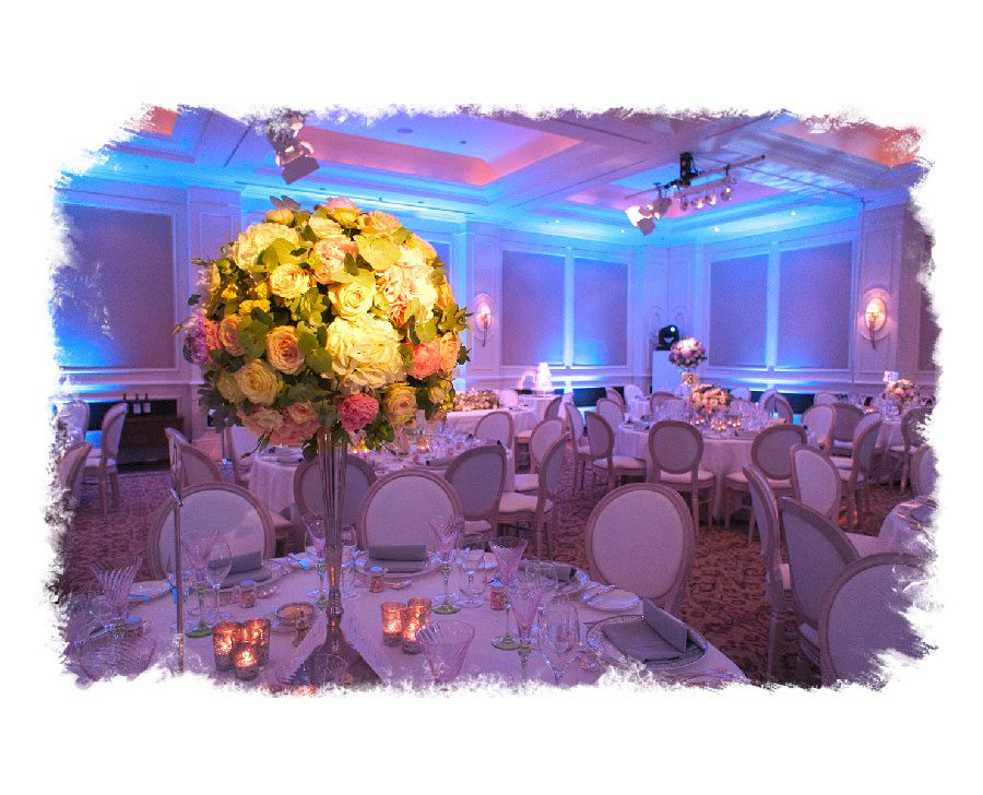 Wedding Venue With Table Settings And Floristry