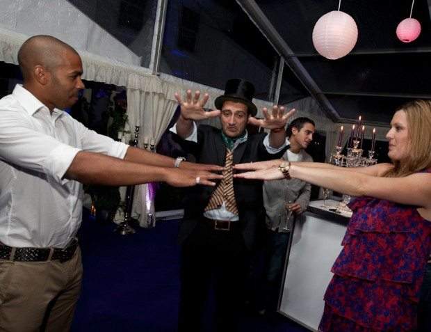 Magician With Party Guests