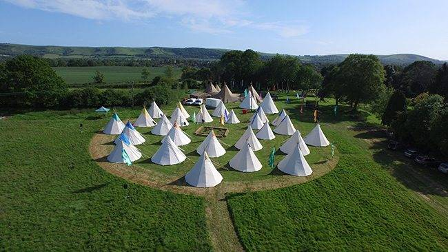 Field of tepees