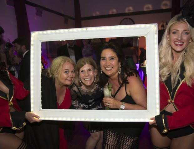 LED Frame At Burlesque Themed Party