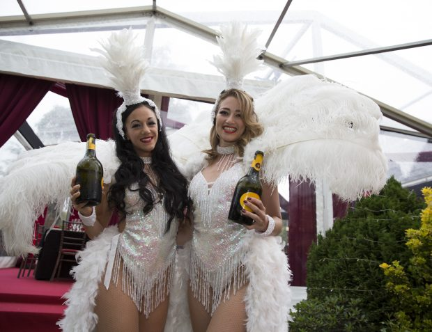 Show Girls At Burlesque Themed Party