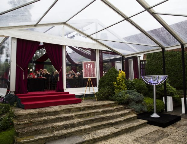 Entrance to Burlesque Themed Party