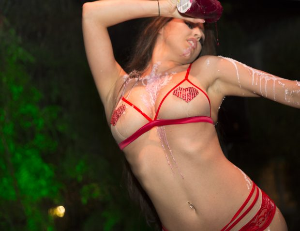 Performer At Burlesque Birthday Party