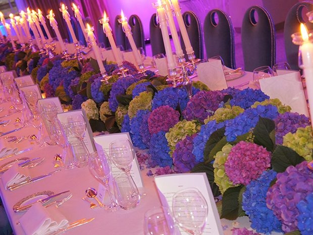 90th Birthday Dorchester Table Settings