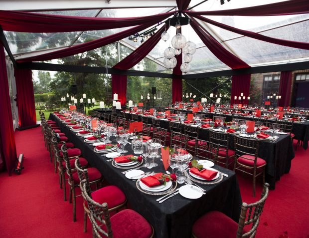 Burlesque Themed Party Marquee