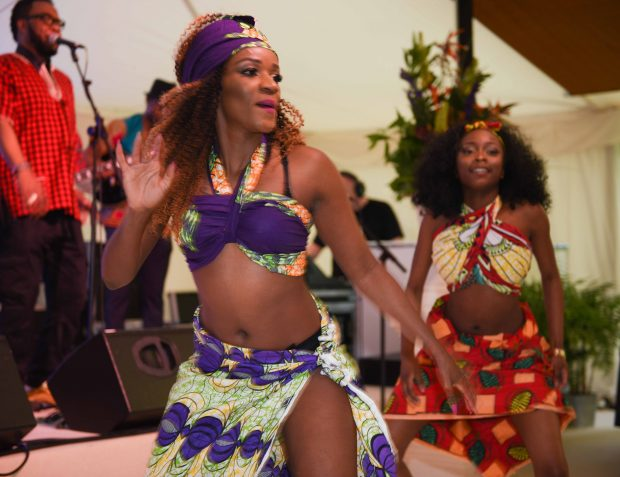 African band and dancers