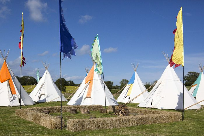 Tipis At Festival Themed 50th