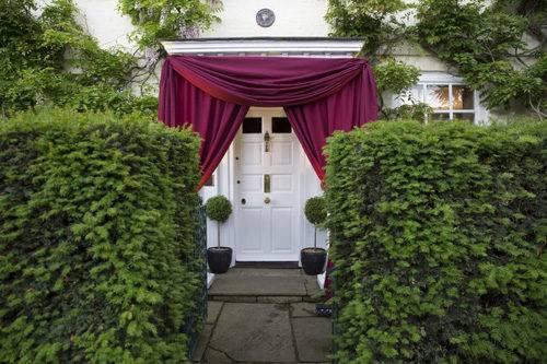 draped entrance