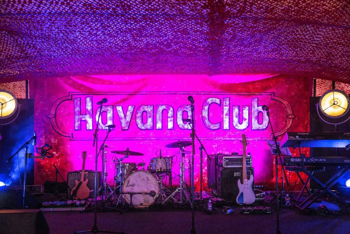 Havana Nights Themed Party Band Set Up