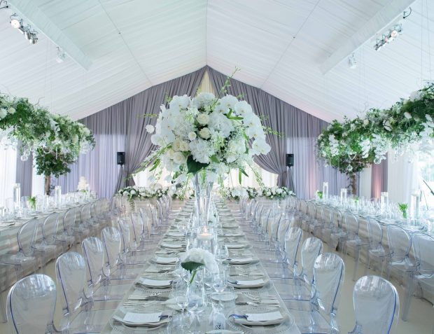 Interior Marquee Wedding Party Essex