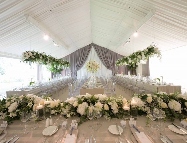 Wedding Party Interiors With Floristry