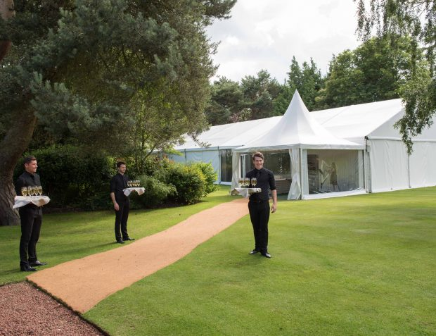 Party Marquee With Drinks Reception