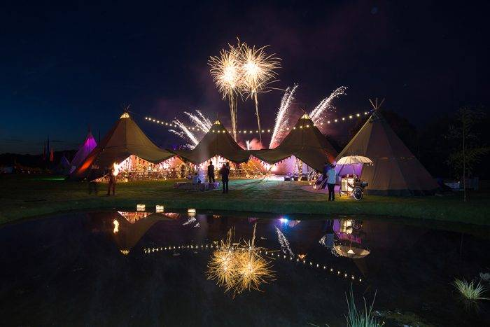 Summer festival themed 50th birthday party