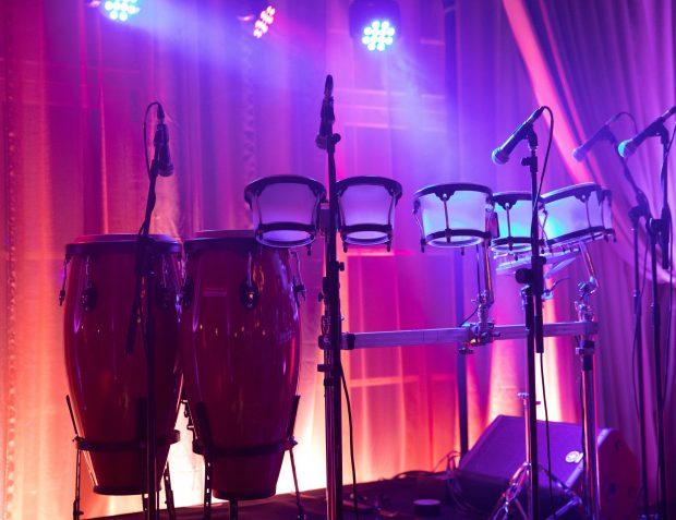 LED Percussionist set up