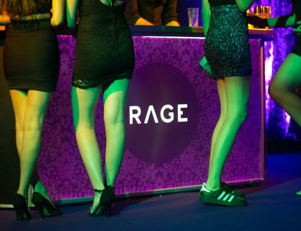 The Rage Pop-Up Nightclub bar