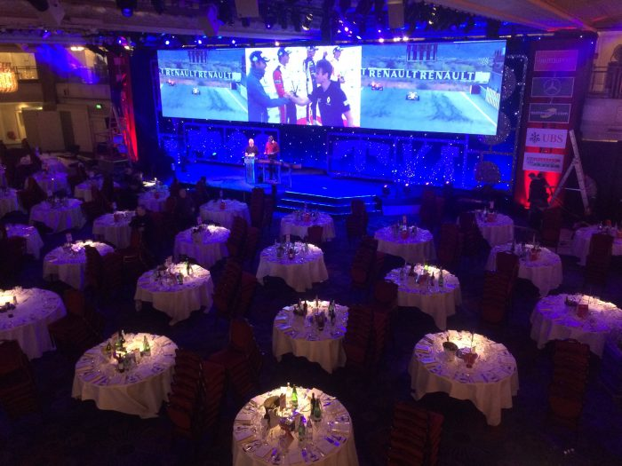 Awards rehearsal in the Great Room, Grosvenor House